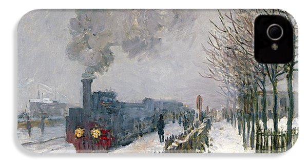 Train In The Snow Or The Locomotive IPhone 4 Case