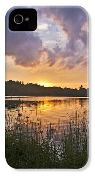 Tranquil Sunset On The Lake IPhone 4 Case by Gary Eason