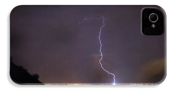 IPhone 4 Case featuring the photograph It's A Hit Transformer Lightning Strike by James BO Insogna