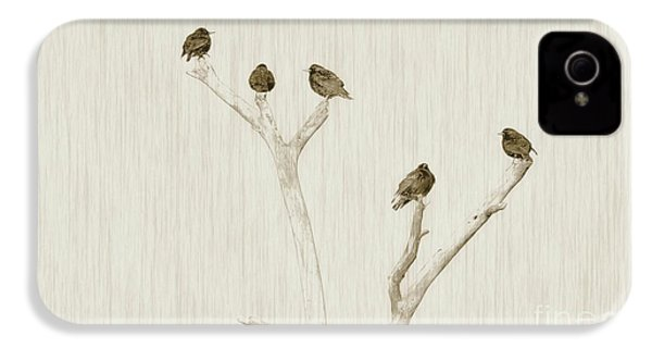 Treetop Starlings IPhone 4 Case by Benanne Stiens