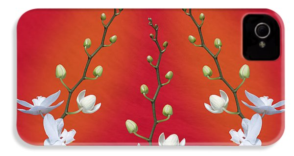 Trifecta Of Orchids IPhone 4 Case by Tom Mc Nemar