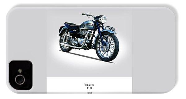 Triumph Tiger 110 1956 IPhone 4 / 4s Case by Mark Rogan