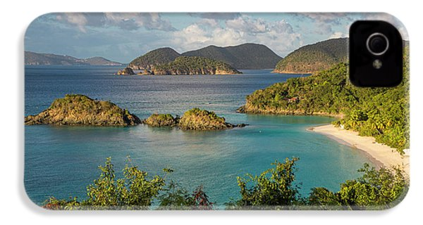 IPhone 4 Case featuring the photograph Trunk Bay Morning by Adam Romanowicz