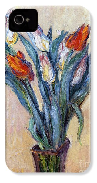 Tulips IPhone 4 Case by Claude Monet