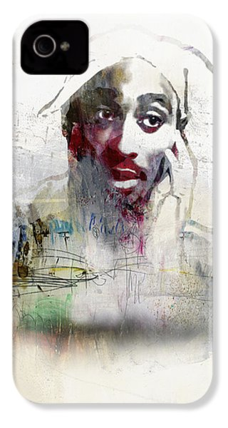 Tupac Graffitti 2656 IPhone 4 Case by Jani Heinonen