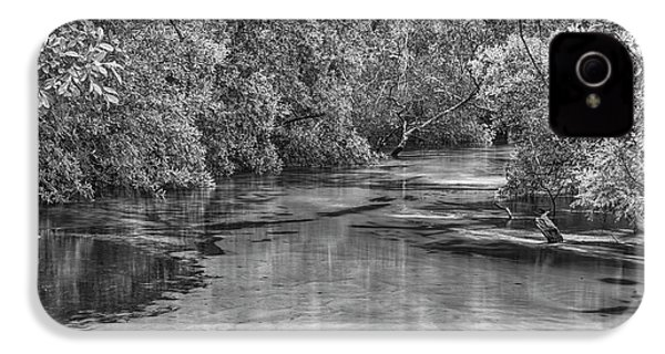 Turkey Creek In Black And White IPhone 4 Case by JC Findley