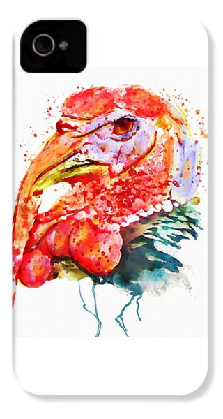 Turkey Head IPhone 4 / 4s Case by Marian Voicu