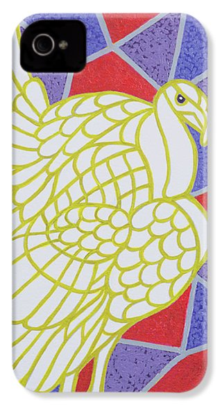Turkey On Stained Glass IPhone 4 Case by Pat Scott