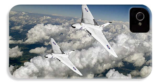 IPhone 4 Case featuring the photograph Two Avro Vulcan B1 Nuclear Bombers by Gary Eason