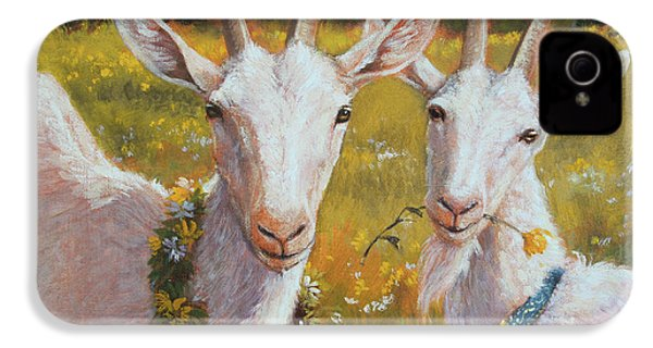 Two Goats Of Summer IPhone 4 Case by Tracie Thompson