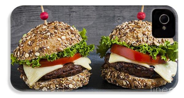Two Gourmet Hamburgers IPhone 4 Case