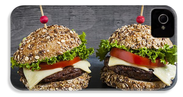 Two Gourmet Hamburgers IPhone 4 / 4s Case by Elena Elisseeva