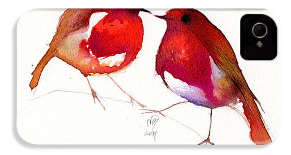 Two Little Birds IPhone 4 / 4s Case by Nancy Moniz