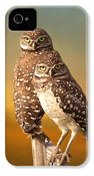 Two Of Us IPhone 4 Case by Kim Hojnacki