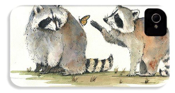 Two Raccoons IPhone 4 Case