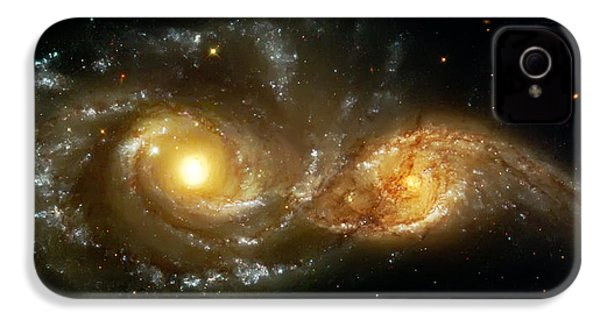 Two Spiral Galaxies IPhone 4 Case