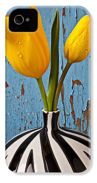 Two Yellow Tulips IPhone 4 Case by Garry Gay