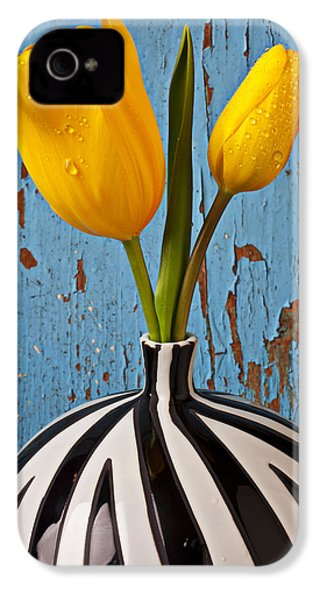 Two Yellow Tulips IPhone 4 / 4s Case by Garry Gay