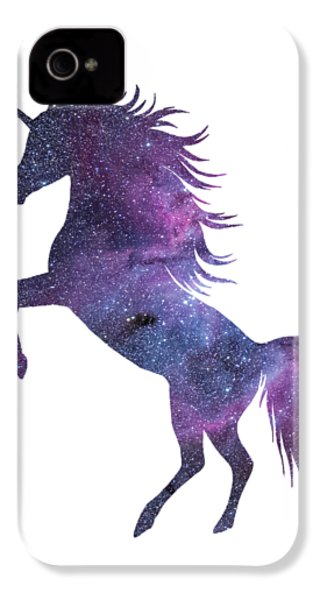 Unicorn In Space-transparent Background IPhone 4 Case by Jacob Kuch