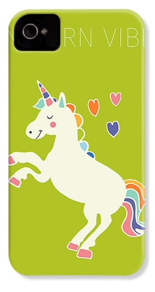 Unicorn Vibes IPhone 4 / 4s Case by Nicole Wilson
