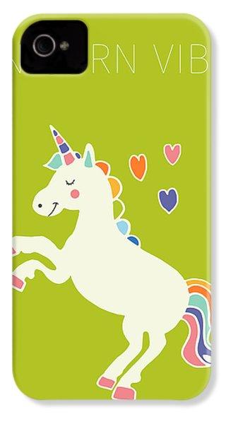Unicorn Vibes IPhone 4 Case