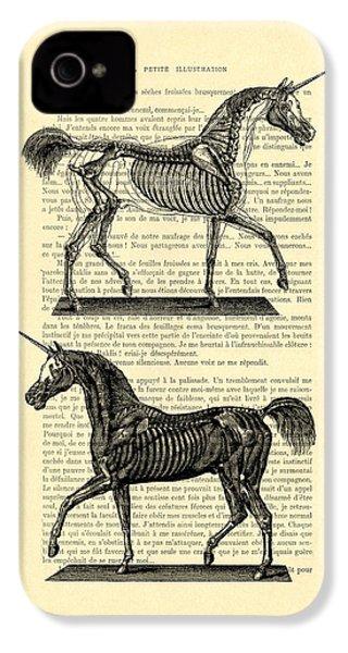 Unicorns Anatomy IPhone 4 Case