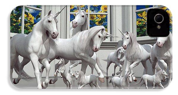 Unicorns IPhone 4 Case by Betsy Knapp