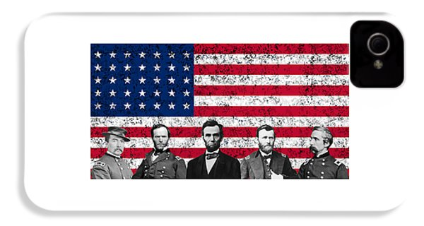 Union Heroes And The American Flag IPhone 4 Case