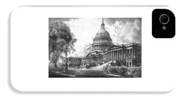 United States Capitol Building IPhone 4 Case by War Is Hell Store