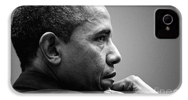 United States President Barack Obama Bw IPhone 4 Case by Celestial Images