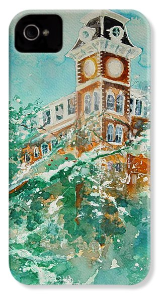 Ice On Old Main IPhone 4 Case by Robin Miller-Bookhout