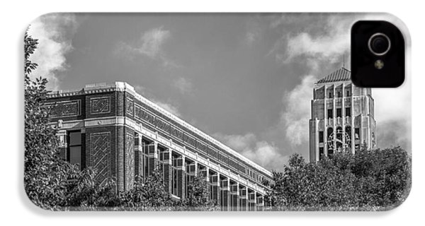 University Of Michigan Natural Sciences Building With Burton Tower IPhone 4 Case by University Icons