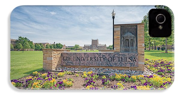 University Of Tulsa Mcfarlin Library IPhone 4 / 4s Case by Roberta Peake