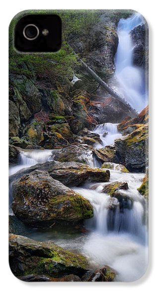 IPhone 4 Case featuring the photograph Upper Race Brook Falls 2017 by Bill Wakeley