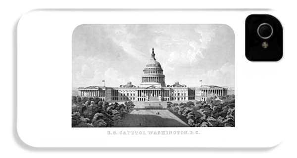 Us Capitol Building - Washington Dc IPhone 4 Case by War Is Hell Store