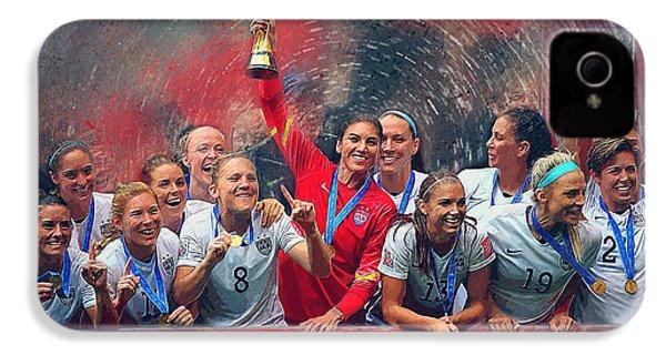 Us Women's Soccer IPhone 4 Case by Semih Yurdabak
