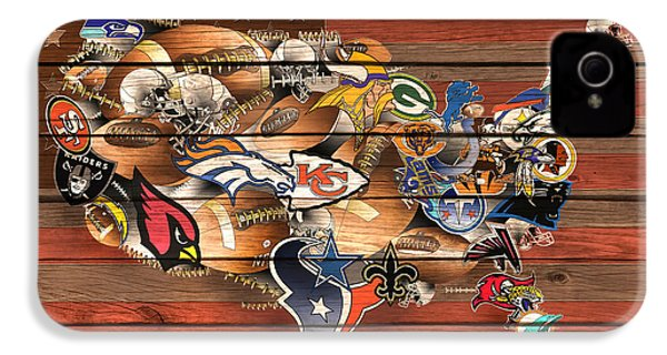 Usa Nfl Map Collage 6 IPhone 4 Case