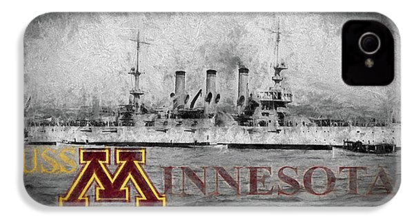 Uss Minnesota IPhone 4 Case by JC Findley