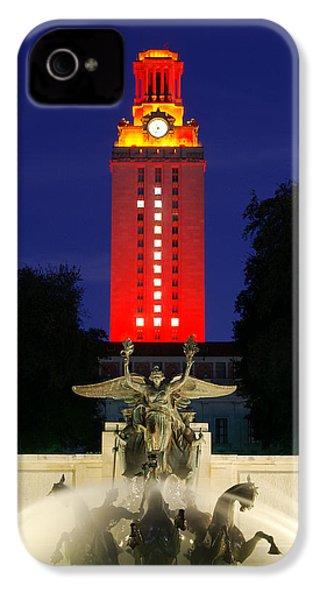Ut Austin Tower Orange IPhone 4 Case