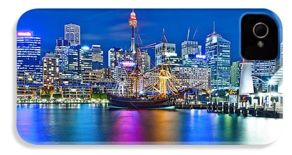Vibrant Darling Harbour IPhone 4 Case by Az Jackson