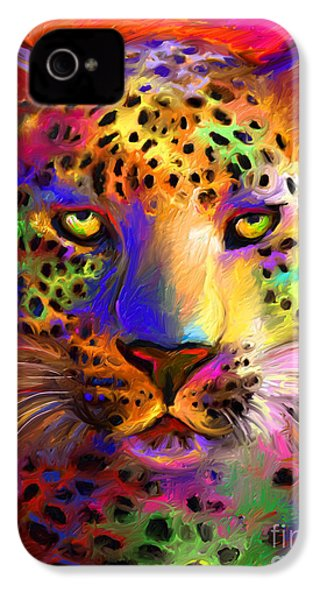 Vibrant Leopard Painting IPhone 4 Case