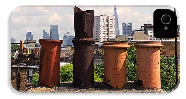 Victorian London Chimney Pots IPhone 4 / 4s Case by Rona Black