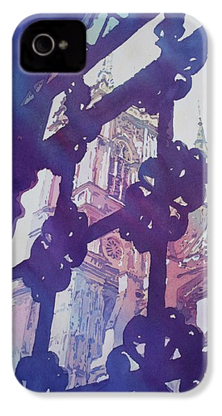 View From The Cloister IPhone 4 Case by Jenny Armitage
