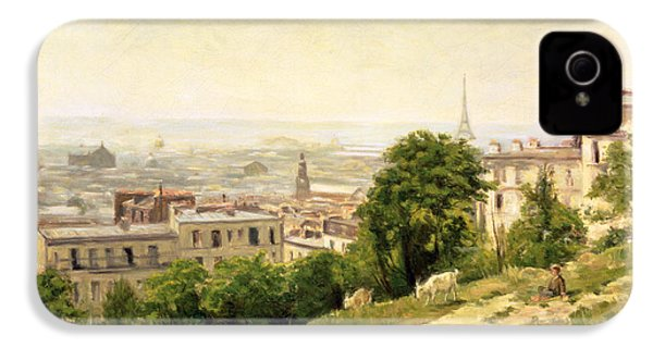 View Of Paris IPhone 4 Case by Stanislas Victor Edouard Lepine