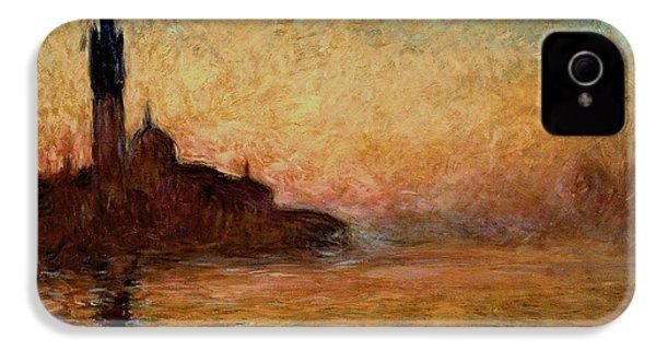 View Of San Giorgio Maggiore IPhone 4 Case by Claude Monet