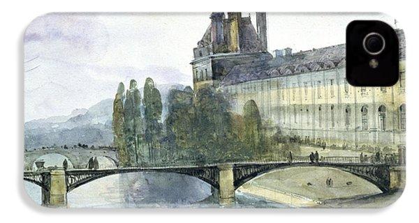 View Of The Pavillon De Flore Of The Louvre IPhone 4 / 4s Case by Francois-Marius Granet