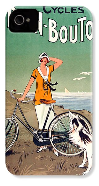 Vintage Bicycle Advertising IPhone 4 Case by Mindy Sommers