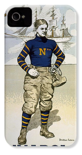 Vintage College Football Annapolis IPhone 4 Case by Pd