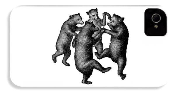 Vintage Dancing Bears IPhone 4 Case by Edward Fielding