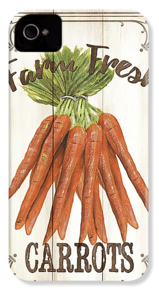 Vintage Fresh Vegetables 3 IPhone 4 Case by Debbie DeWitt